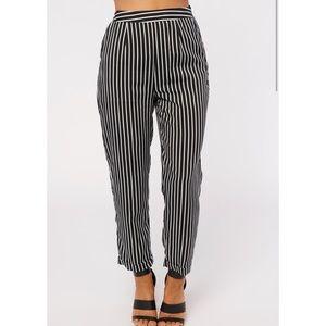 NWOT Pin your location striped pants - NanaMacs